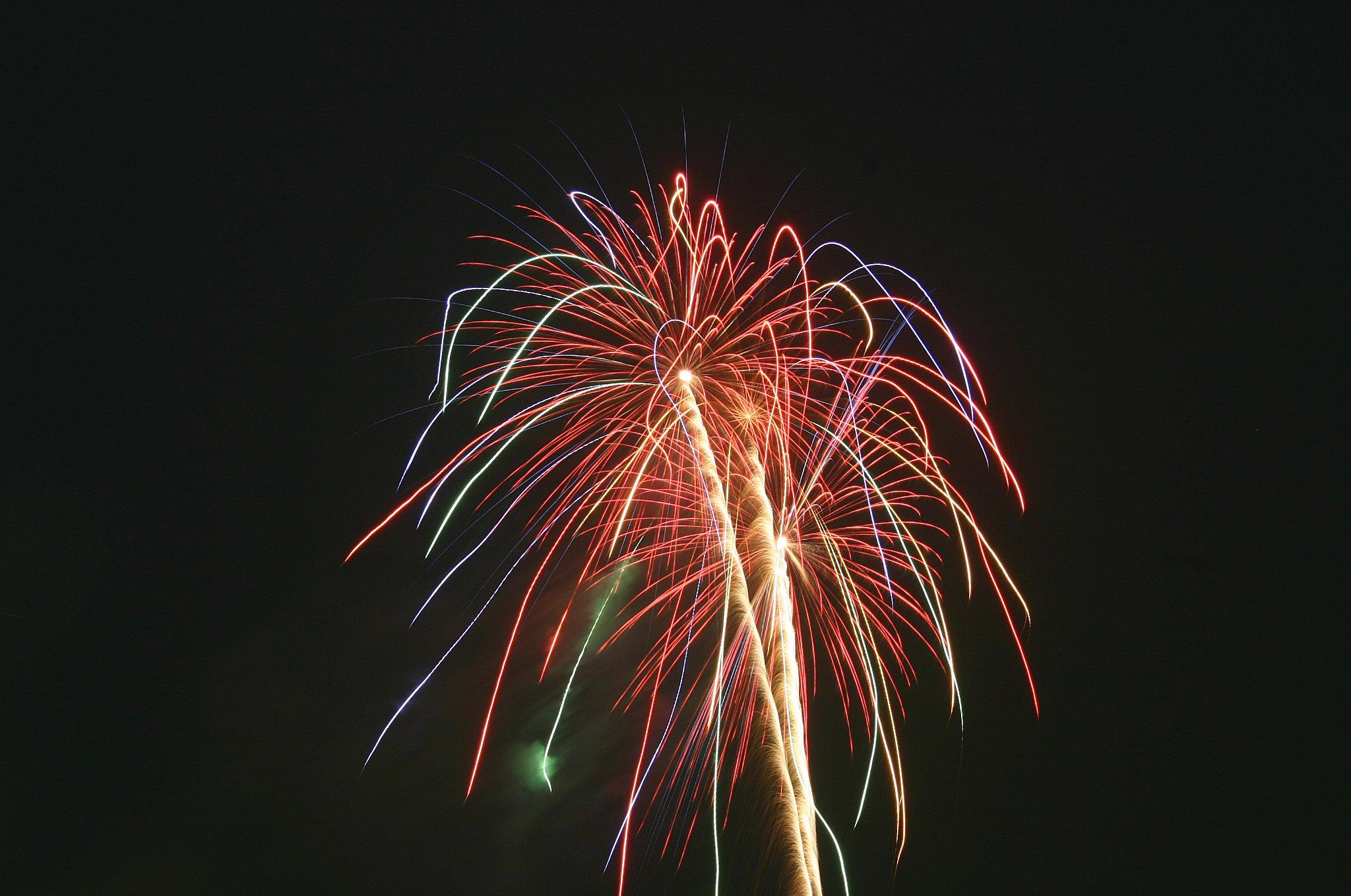 とても大きな打ち上げ花火