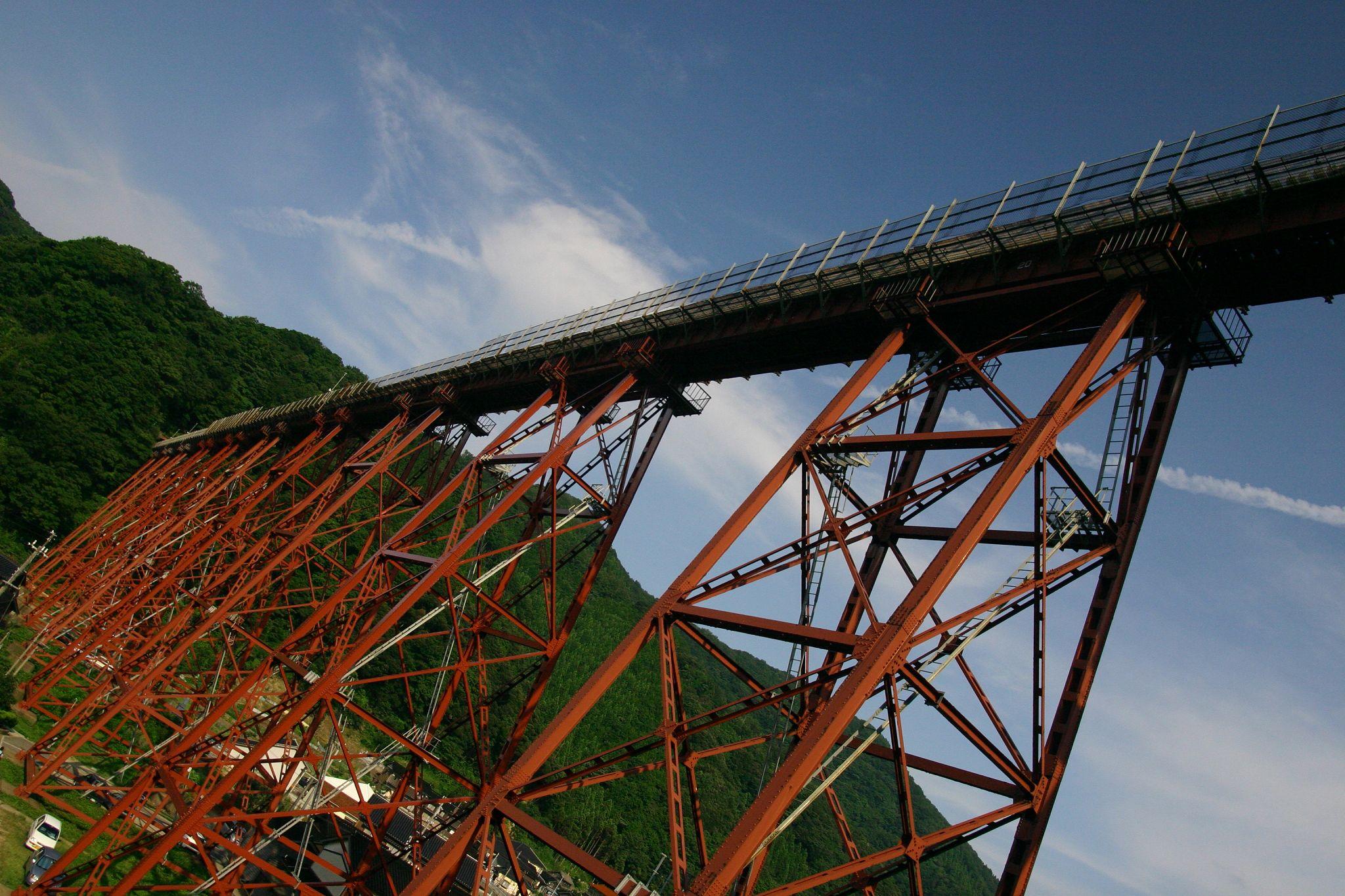 日本一のトレッスル式鉄橋