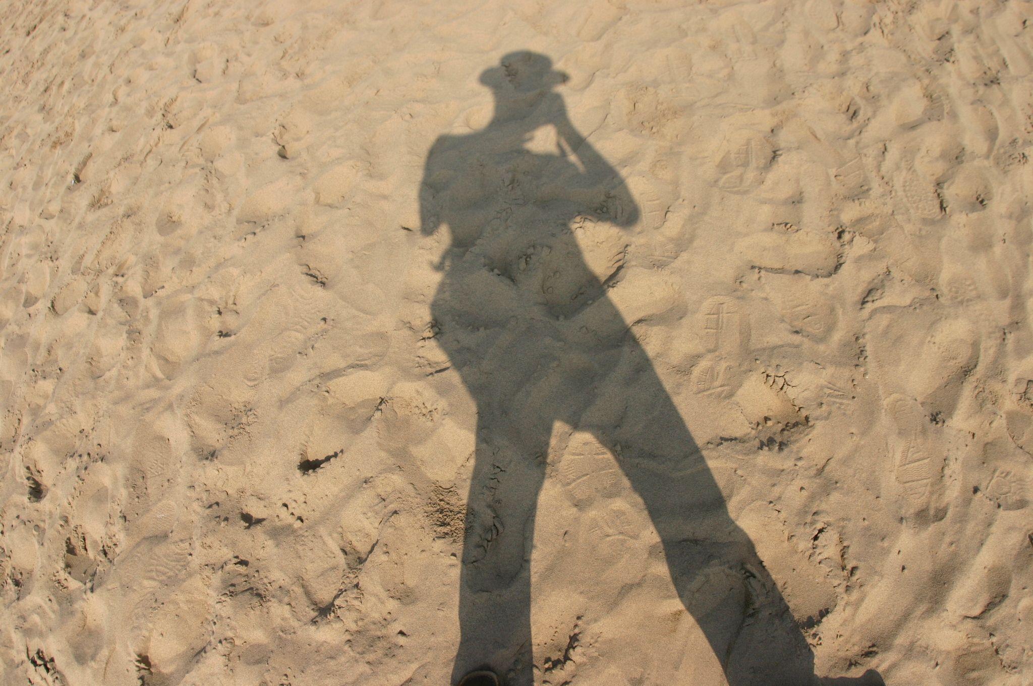 砂に写った自分