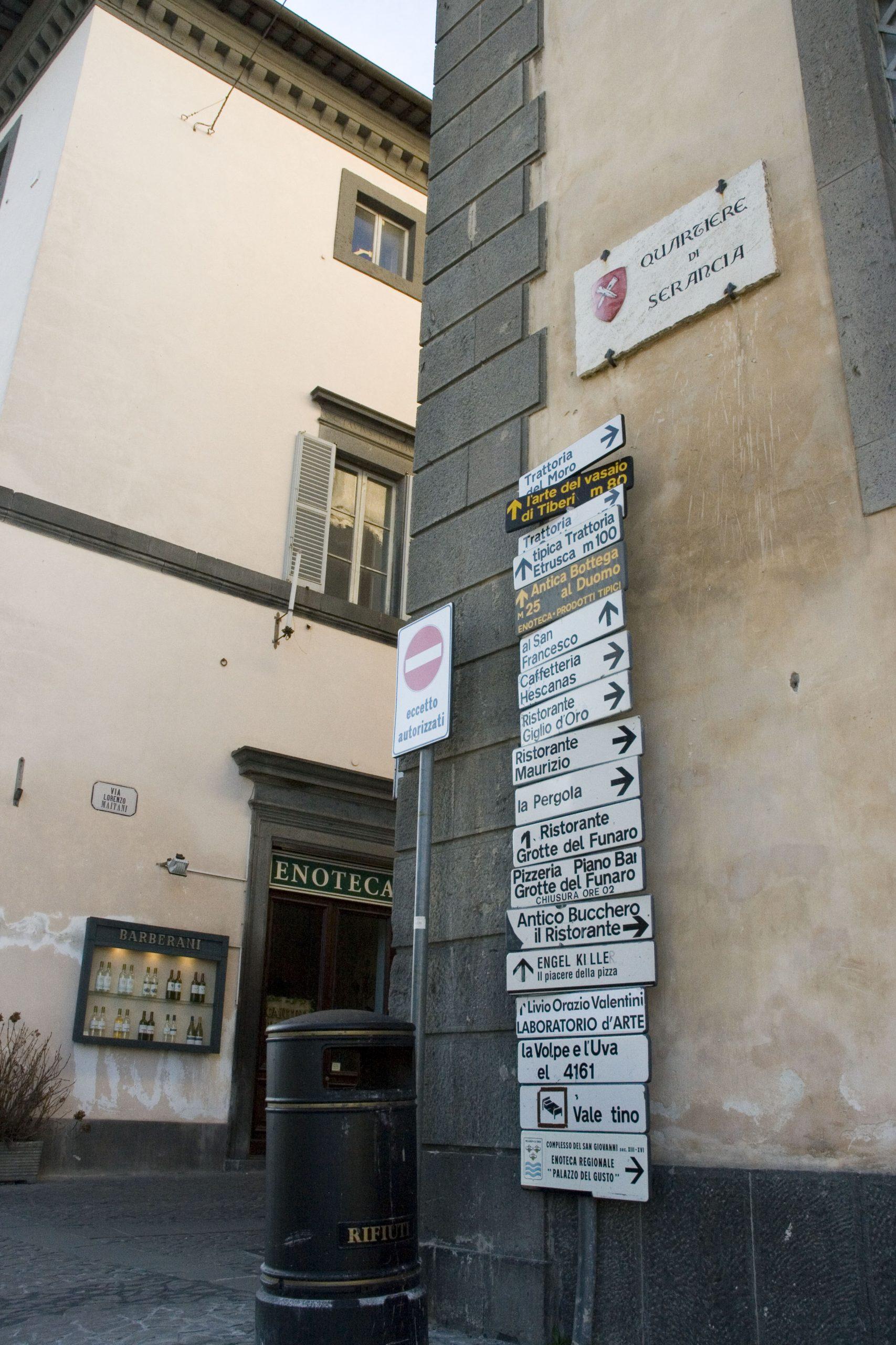 イタリアの標識