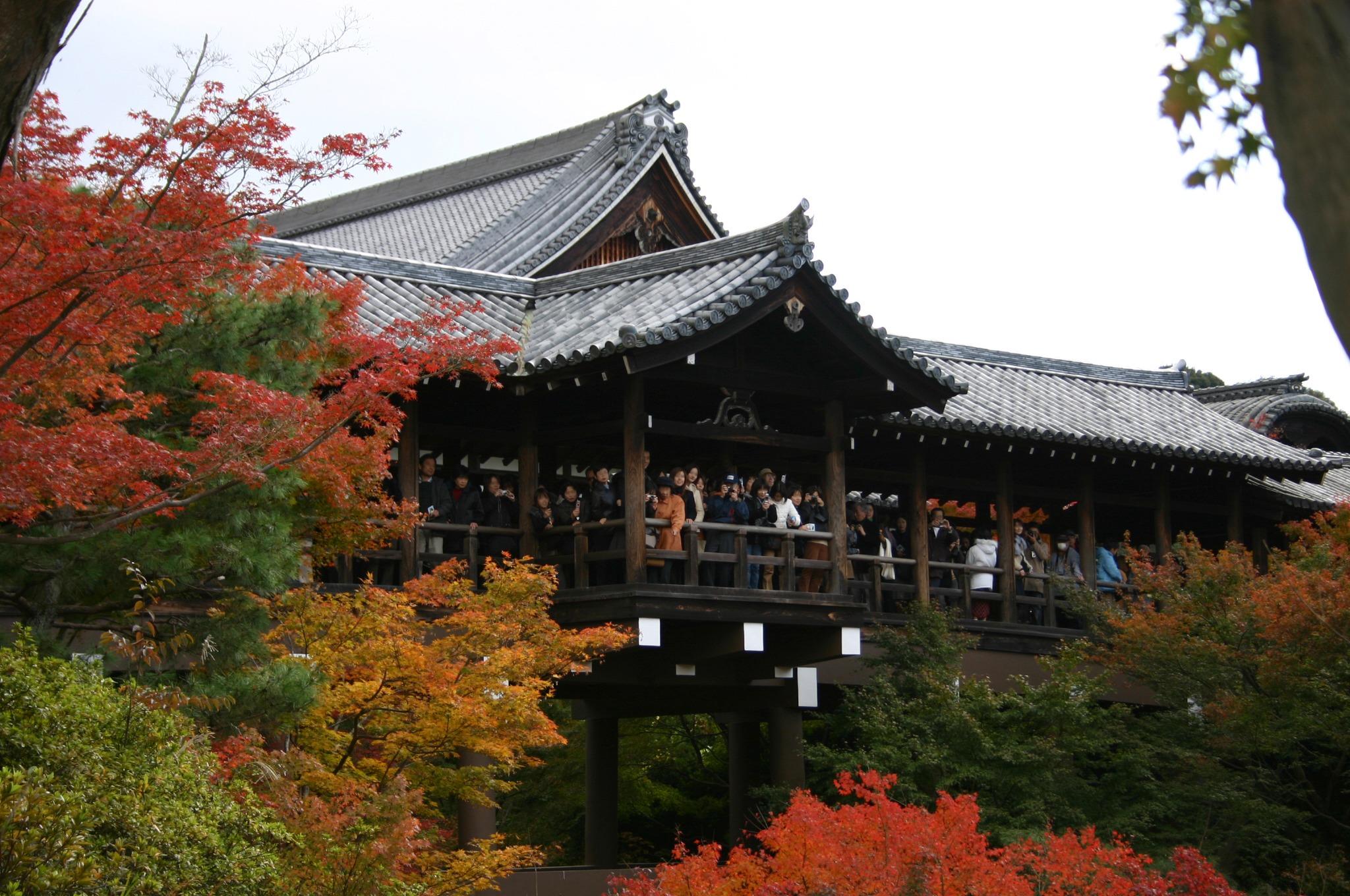京都の紅葉の名所、東福寺「通天橋」