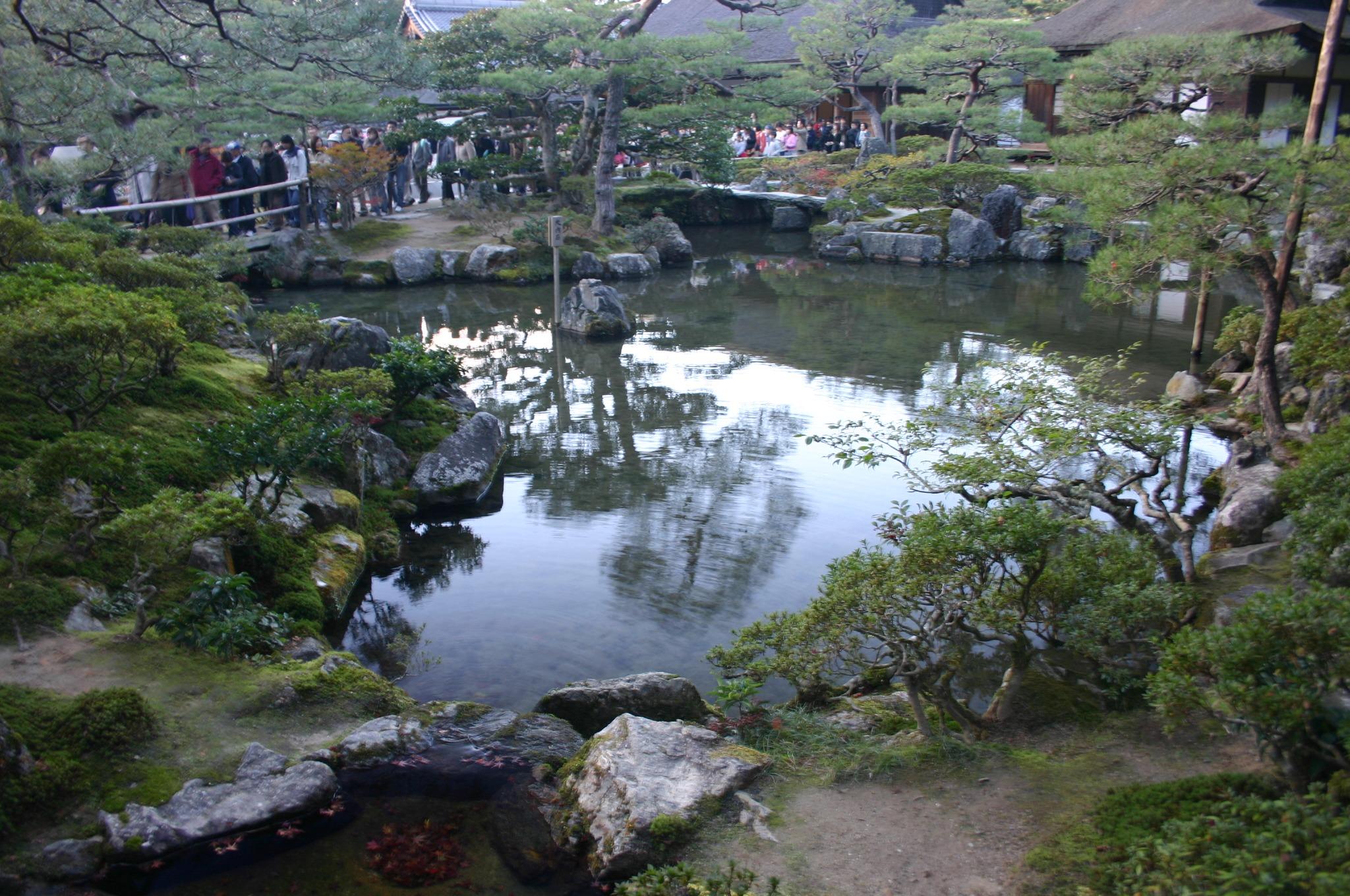 銀閣寺(東山慈照寺)の池