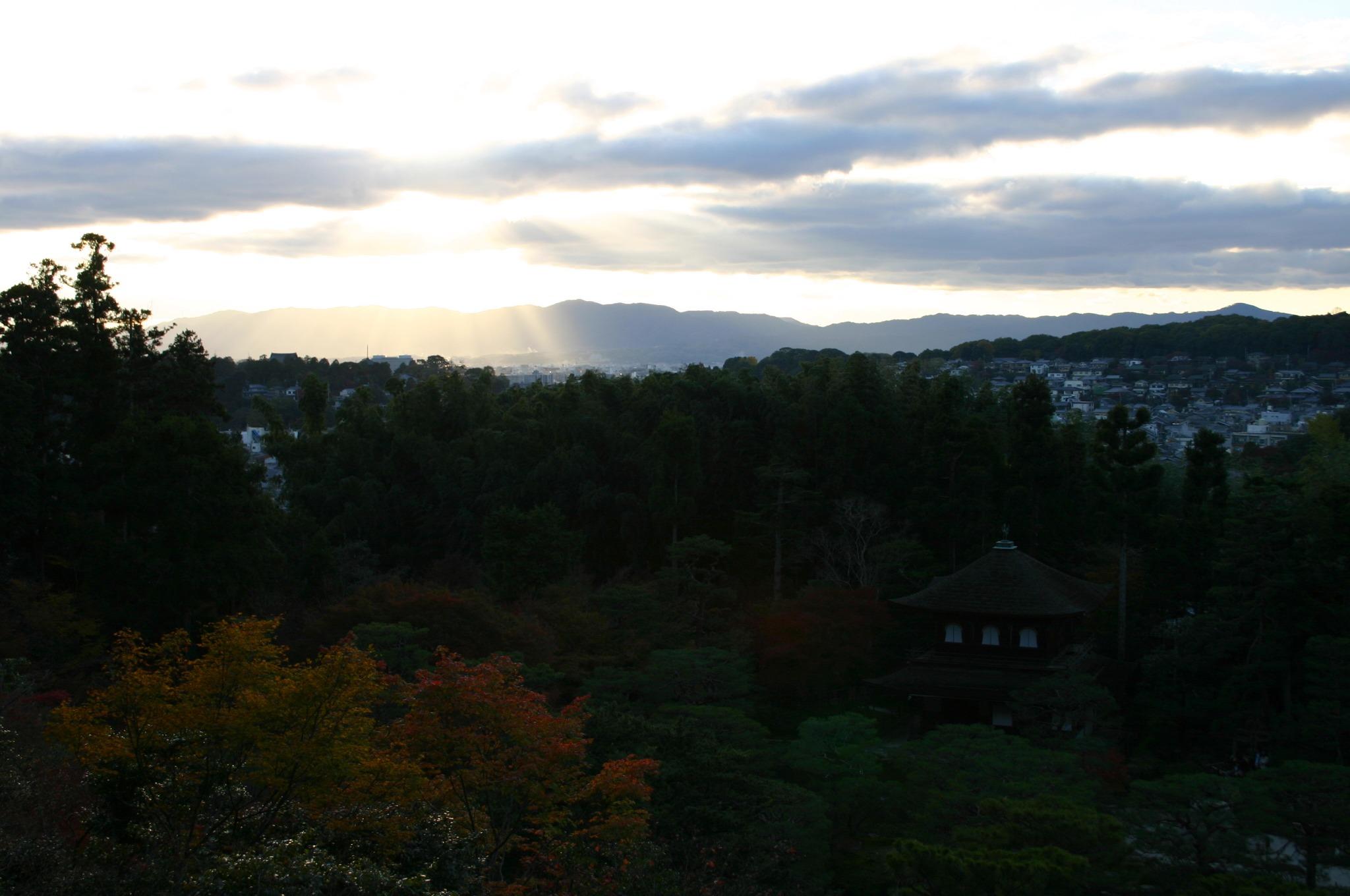 銀閣寺(東山慈照寺)の山より