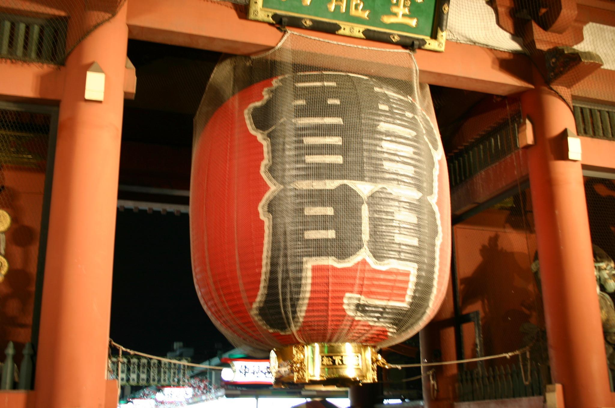 浅草寺の雷門の大提灯