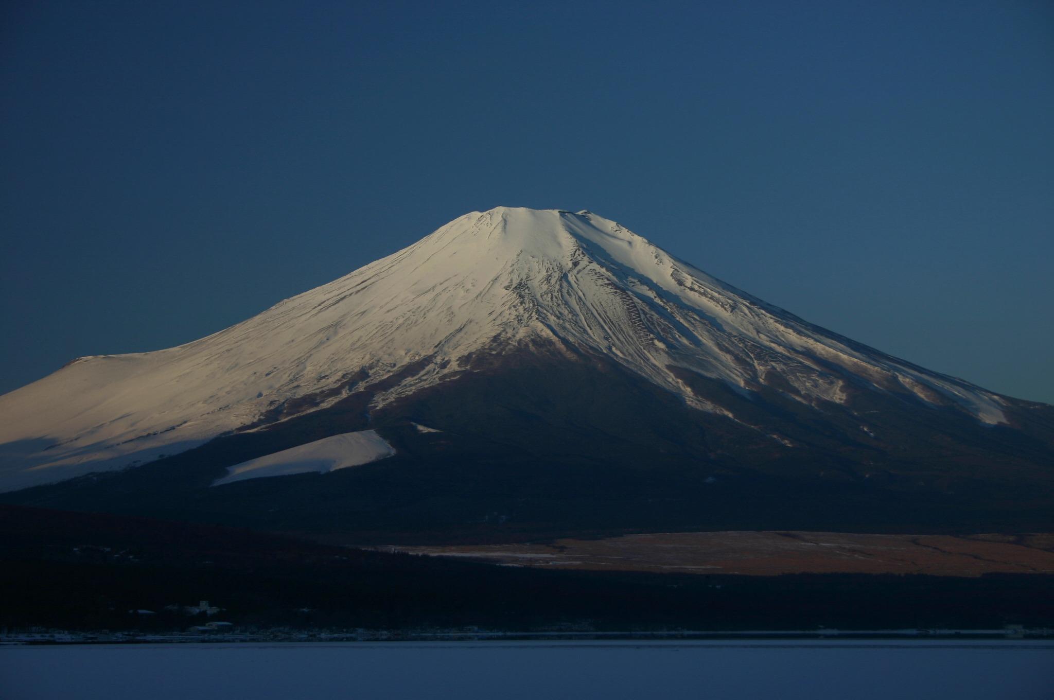 富士山のアップ