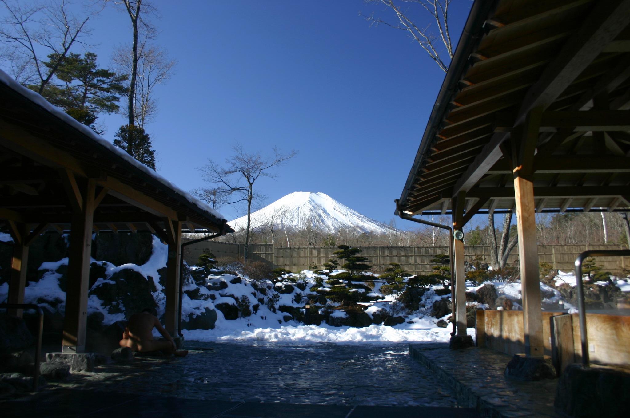 紅富士の湯から富士山を!