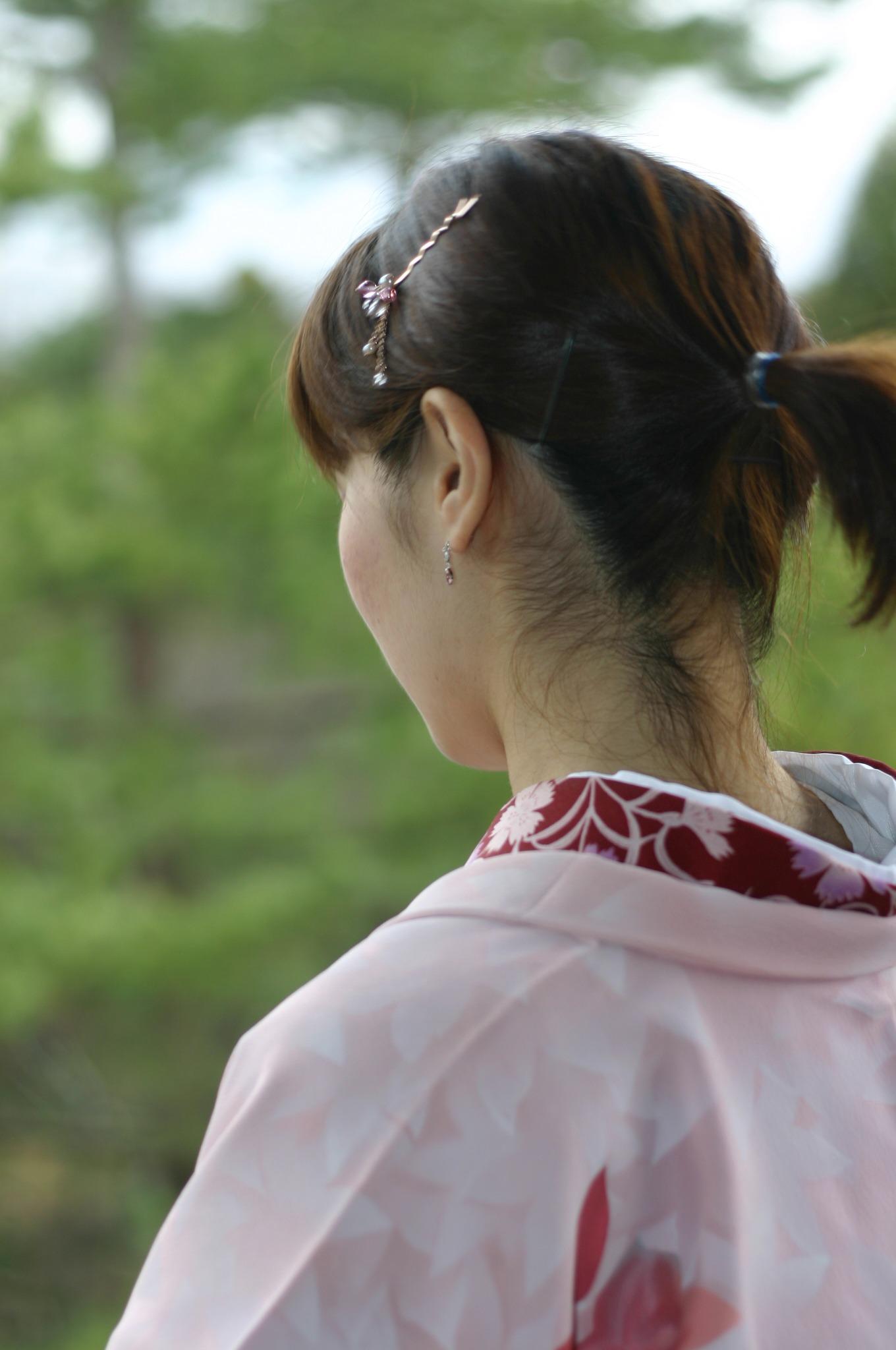京都で着物を着る