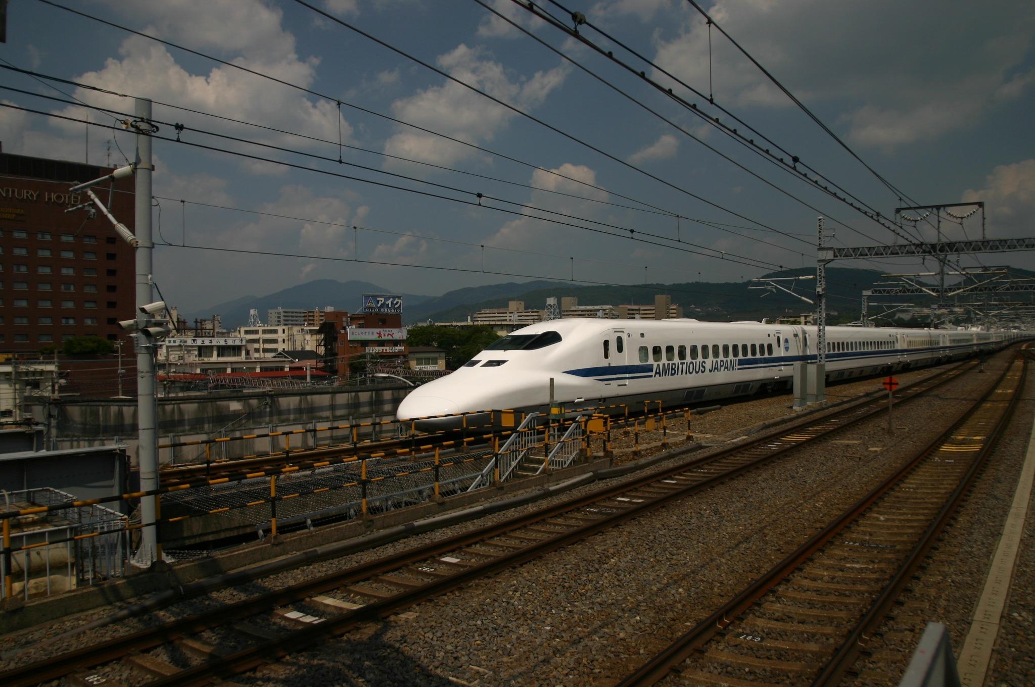 京都駅でのぞみを撮影