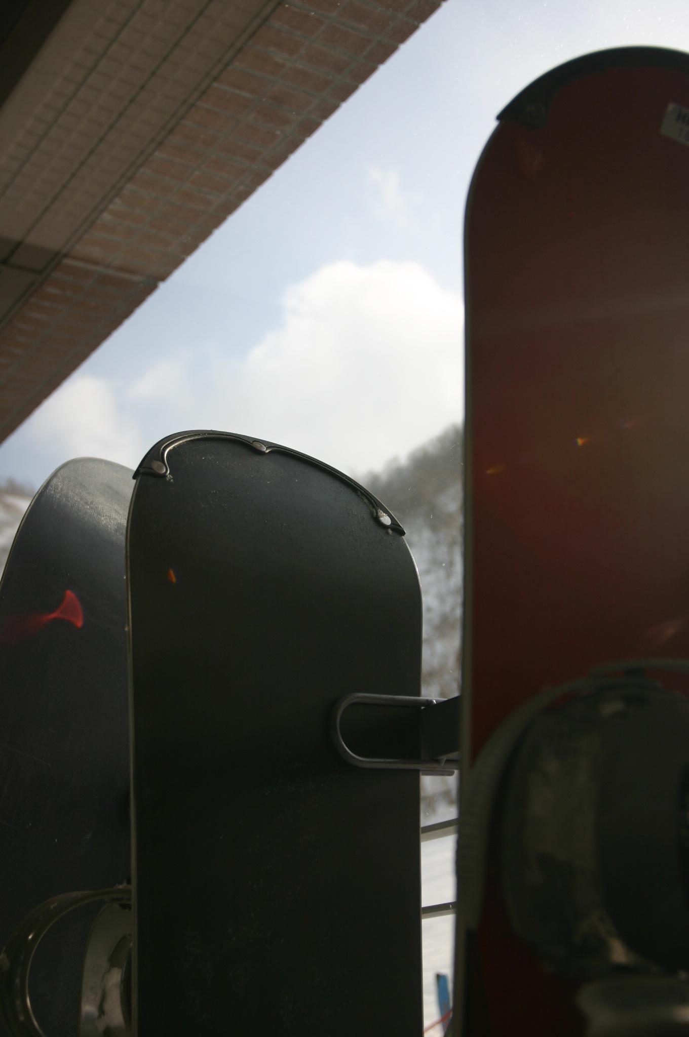 雪山とスノーボード