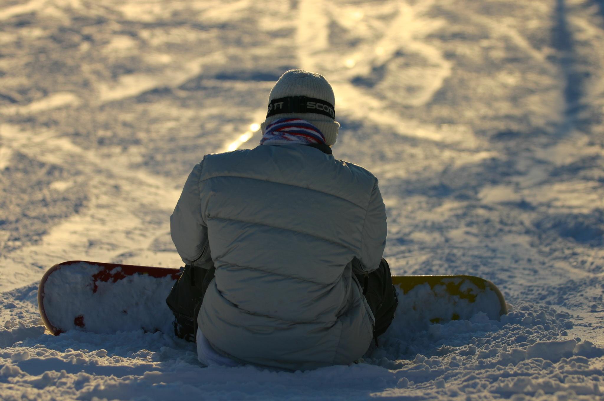 雪の中のボーダー