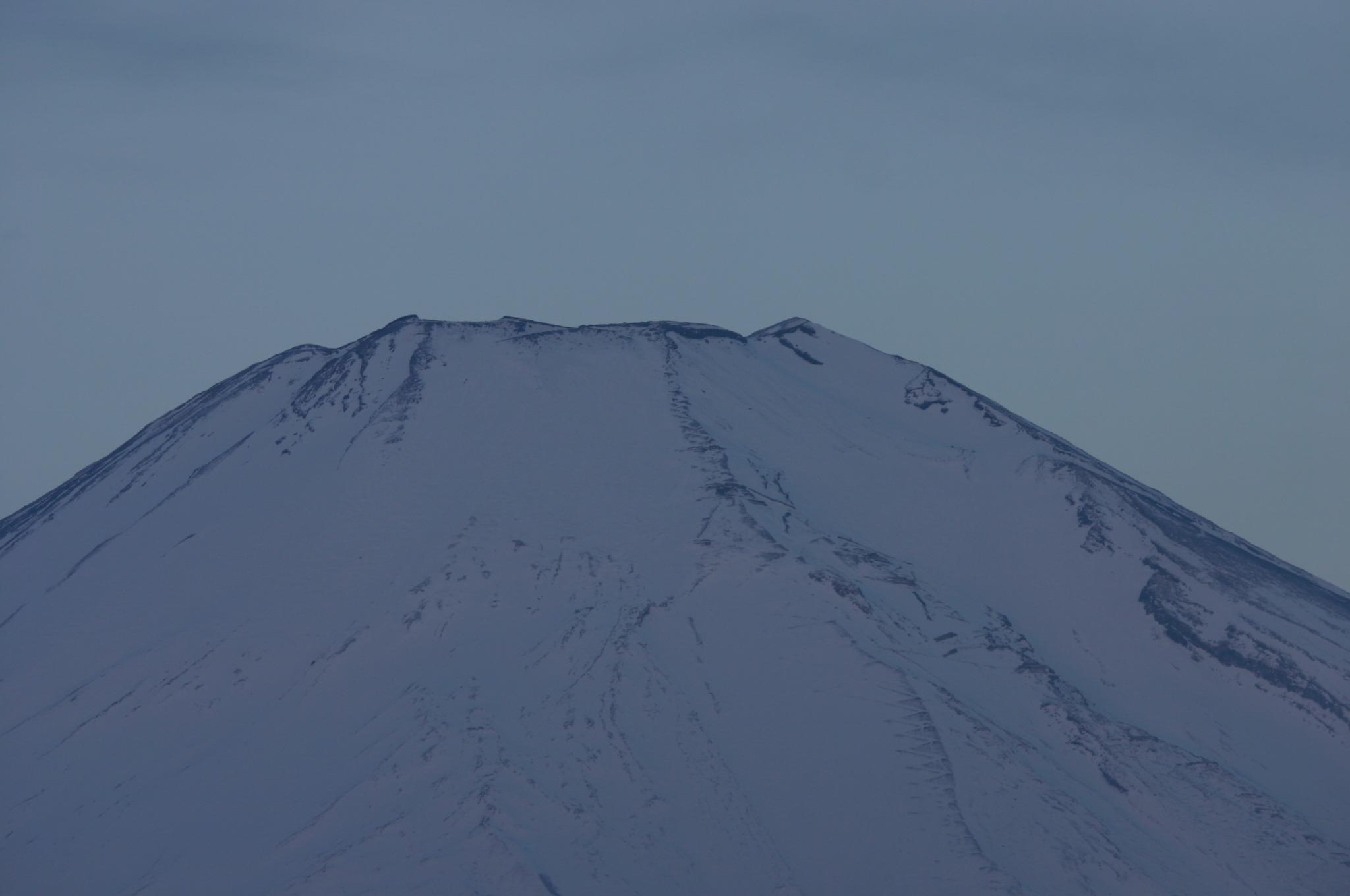 富士山をアップで撮影