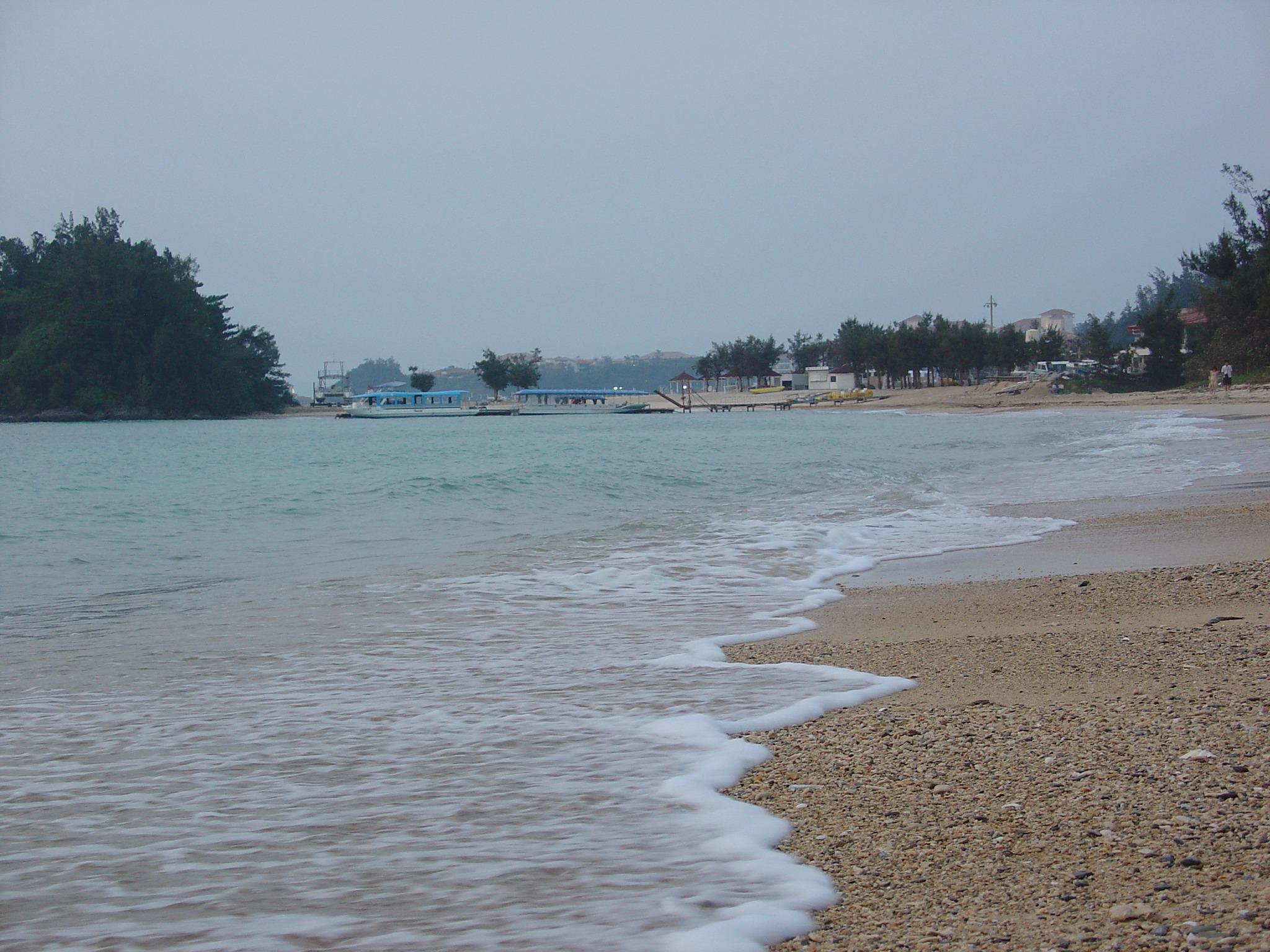 沖縄の砂浜を撮る